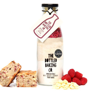 Baking Bottle Irresistible White Chocolate & Raspberry Tray Bake