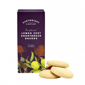 Cartwright & Butler Lemon Zest Shortbread Rounds Carton 200g
