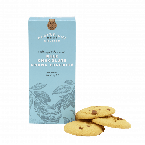 Cartwright & Butler Milk Chocolate Chunk Biscuits in Carton 200g