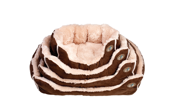 NORDIC SNUGGLE BED BROWN - Select Size