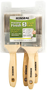 Ronseal Precision Finish 5 Brush pack