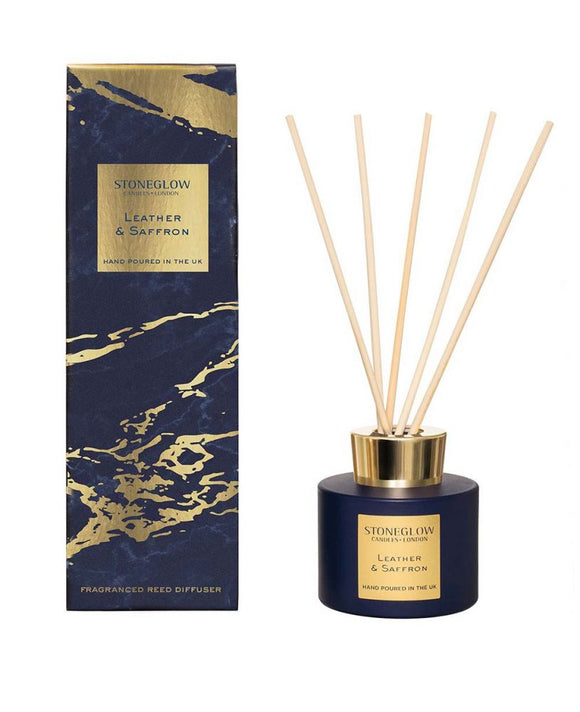 Luna Leather & Saffron Reed Diffuser