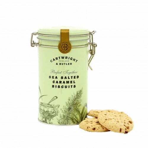 Cartwright & Butler Salted Caramel Biscuits Tin 200g