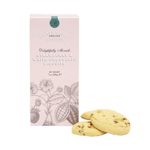 Cartwright & Butler Strawberry & White Choc Biscuits in Carton 200g