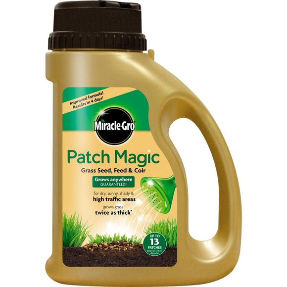 Miracle-Gro Patch Magic Grass Seed, Feed & Coir