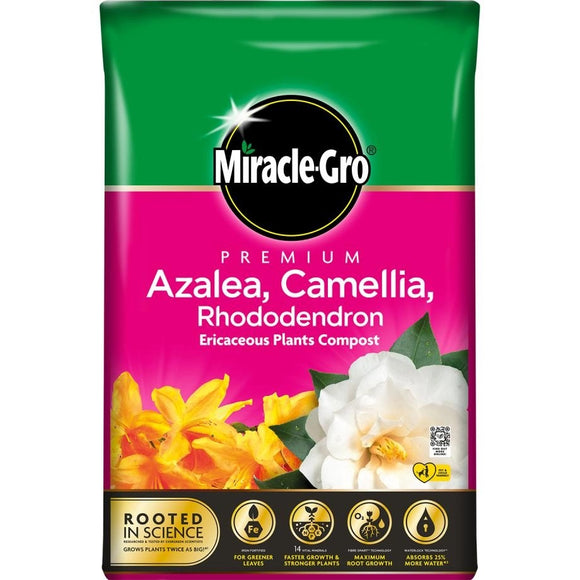 MIRACLE GRO AZALEA,CAMELLIA & RHODODENDRON ERICACEOUS COMPOST 40L