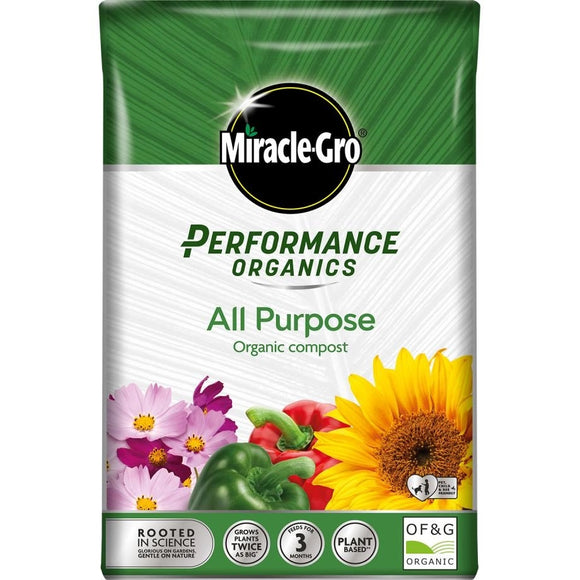 MIRACLE GRO PERFORMANCE ORGANIC ALL PURPOSE 40L