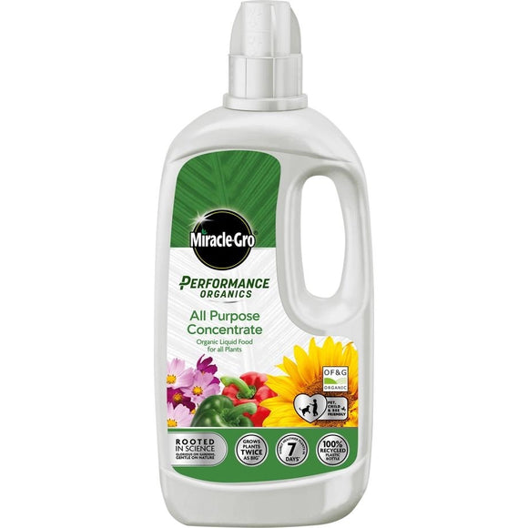 Miracle-Gro Performance Organics All Purpose Concentrated Liquid Plant Food 1L