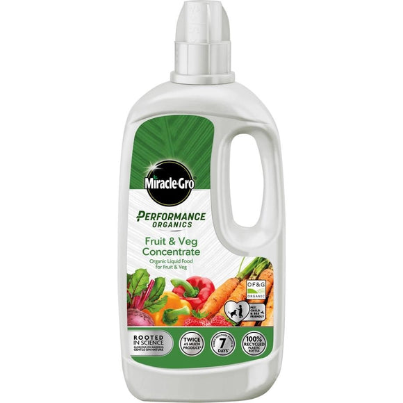 Miracle-Gro Performance Organics Fruit & Veg Concentrated Liquid Plant Food 1L