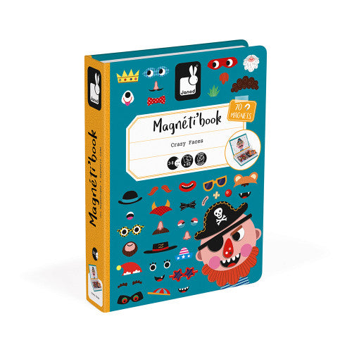 BOY'S CRAZY FACES MAGNETI' BOOK