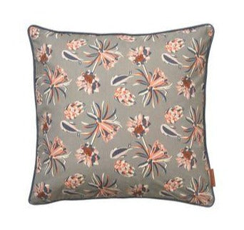 Palm Flower Cushion Mud