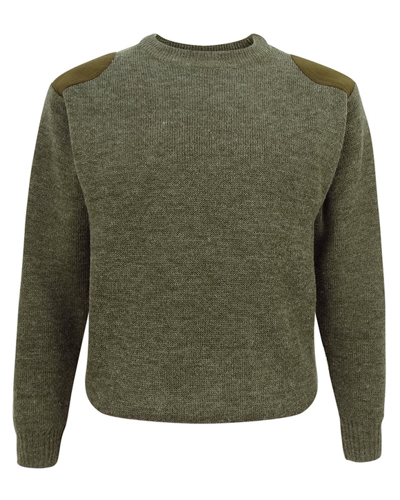 Hoggs of Fife Mens Melrose Hunting Pullover Soft Green
