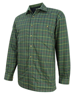 Hoggs of Fife Mens Beech Micro-Fleece Lined Shire Green Check