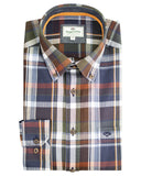 Hoggs of Fife Mens Luthrie Ls Plaid Shirt