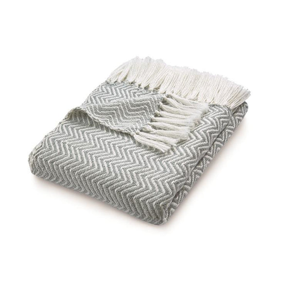 Herringbone Throw Grey