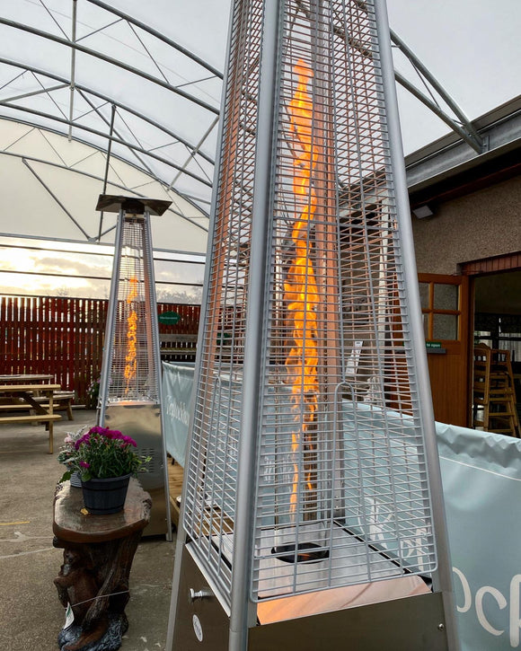 Tahiti Flame Tower Stainless Steel Patio Heater