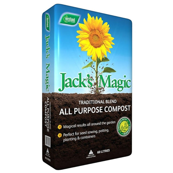 WESTLAND'S JACK MAGIC ALL PURPOSE COMPOST 60L