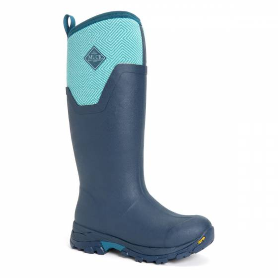 Muck Boot Women's Artic Ice Tall Boot Blue Geometric Print