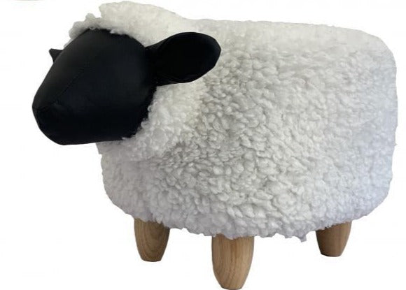 Snowflake the Sheep Footstool