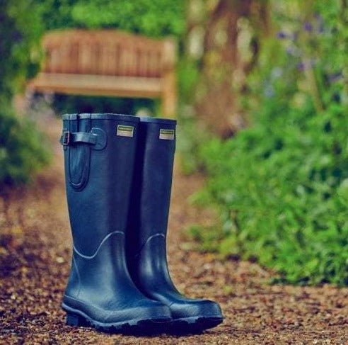 Town & Country Deluxe Bosworth Navy Wellington Boots