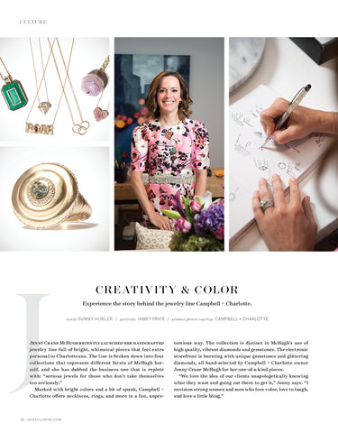 QC Exclusive Charlotte Campbell + Charlotte Jewelry Creativity & Color Design Issue March 2021