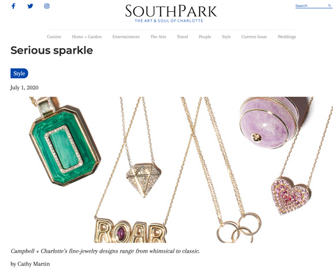 Southpark Magazine Charlotte Serious Sparkle Campbell + Charlotte