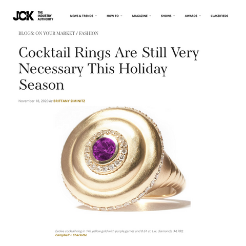 JCK Online Cocktail Rings are Still Very Necessary This Holiday Season