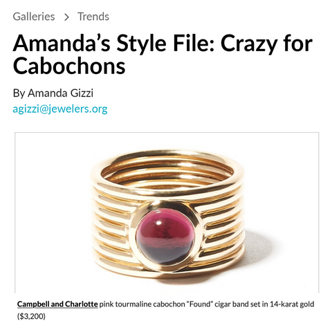 National Jeweler Amanda's Style File Crazy for Cabochons
