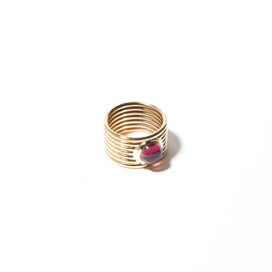 Found Cigar Band Ring - Tourmaline