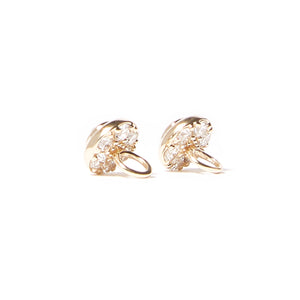 Evolve Hoop Charm Earrings - Diamond