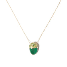 Load image into Gallery viewer, Found Cap Pendant Necklace - Malachite & Tsavorite