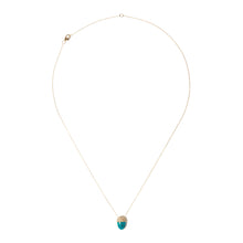 Load image into Gallery viewer, Found Cap Pendant Necklace - Chrysocolla & Brown Diamond