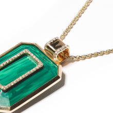 Load image into Gallery viewer, Found Emerald Cut Pendant Necklace - Malachite