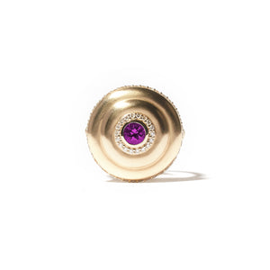 Evolve Cocktail Ring - Purple Garnet