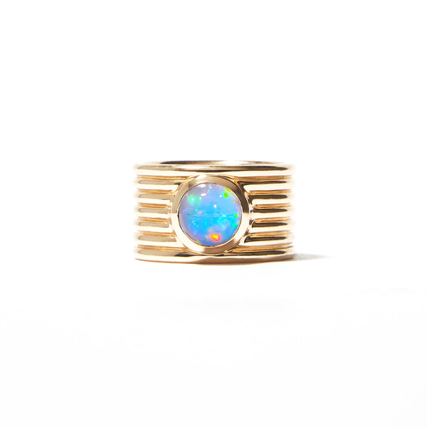 Found Cigar Band Ring - Peruvian Opal