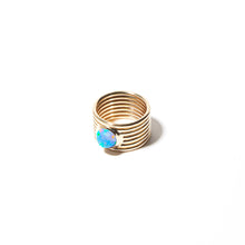 Load image into Gallery viewer, Found Cigar Band Ring - Peruvian Opal