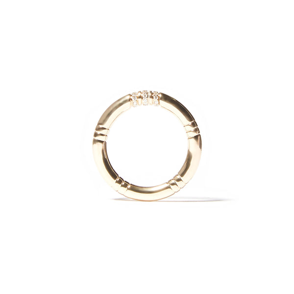The Crew Stacking Ring - Etched & Diamond