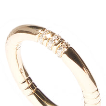 Load image into Gallery viewer, The Crew Stacking Ring - Etched & Diamond