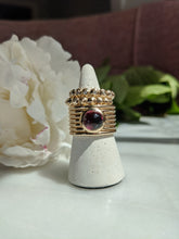 Load image into Gallery viewer, Found Cigar Band Ring - Tourmaline