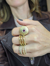 Load image into Gallery viewer, Evolve Cocktail Ring - Purple Garnet