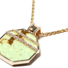 Load image into Gallery viewer, Found Octagon Pendant Necklace - Chrysoprase