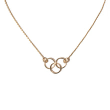 Load image into Gallery viewer, The Crew Triple Circle Necklace - Diamond