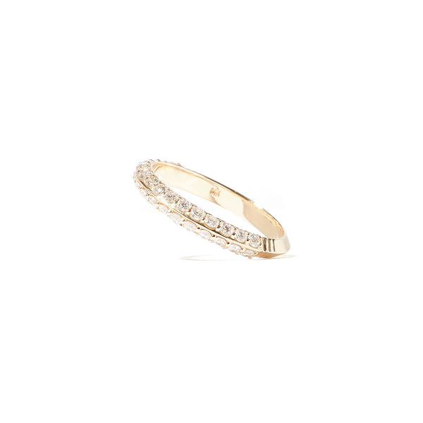 The Crew Knife Edge Stacking Ring - Diamond