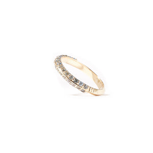 The Crew Knife Edge Stacking Ring - Sapphire