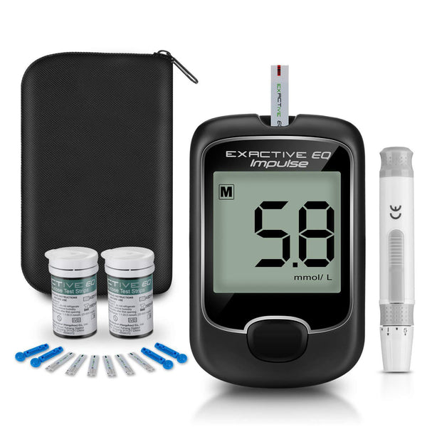 Blood Glucose Monitor Glucometer Set Diabetes Testing Meter w/Test Strips & Lancets