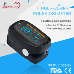 Finger-clamp pulse oximeter
