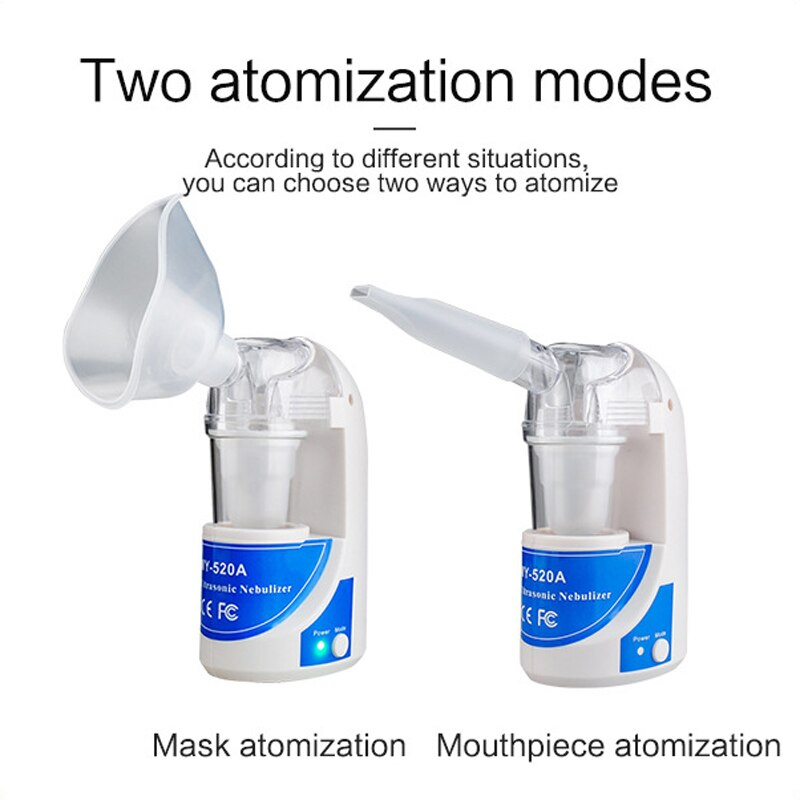 Home Health Care Portable Asthma Automizer - Ultrasonic Nebulizer & Mist Vaporizer for Children Adult