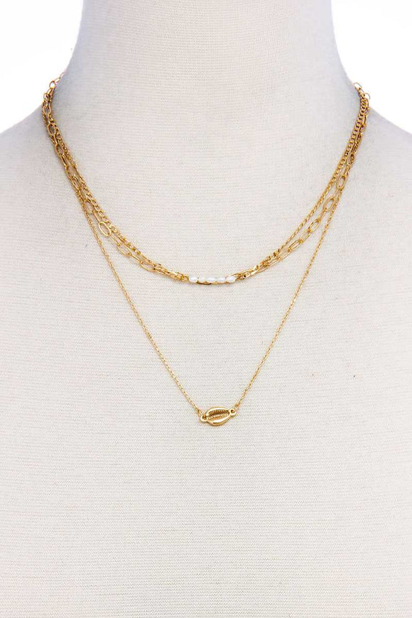 Trendy Fashion Triple Layer Necklace