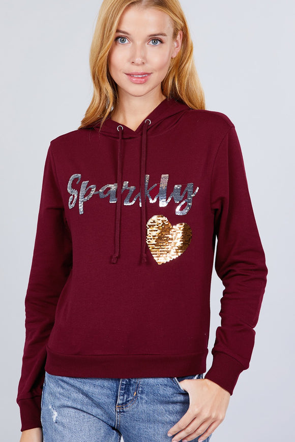 Sparkly Sequins Hoodie Pullover
