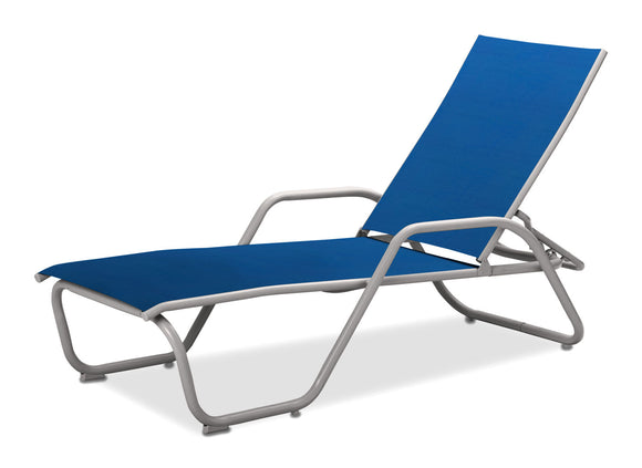 Gardenella Sling Stacking Arm Chaise Lounge